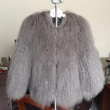 Full Pelt Mongolia Tan Sheep Fur Coat 50CM DO881 - DelaFur Wholesale
