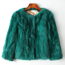 Real Rabbit Fur Coat DO401 - DelaFur Wholesale