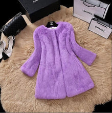 Midi Rabbiat Fur Coat - DelaFur Wholesale