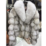 Load image into Gallery viewer, Luxury Fox Fur Coat With Collar 50CM - DelaFur Wholesale