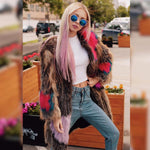 Load image into Gallery viewer, Mixcolored Raccoon Fur Coats 90CM - Furdela Wholesale
