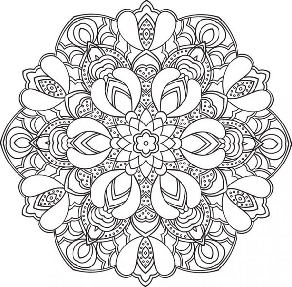 Modern computer generated mandala