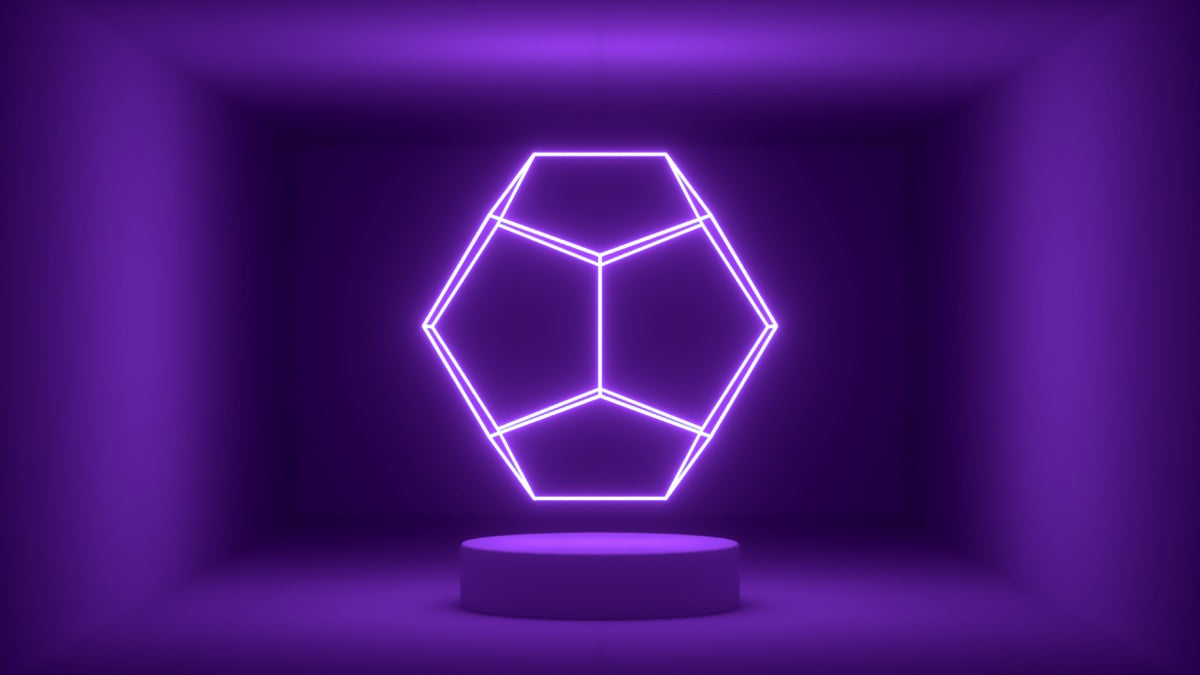Glow Room - Purple Dodecahedron