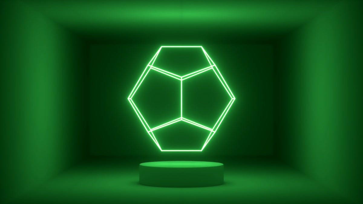 Glow Room - Green Dodecahedron