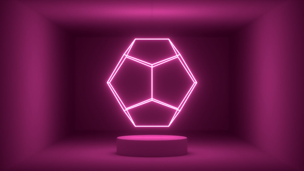 Glow Room - Pink Dodecahedron