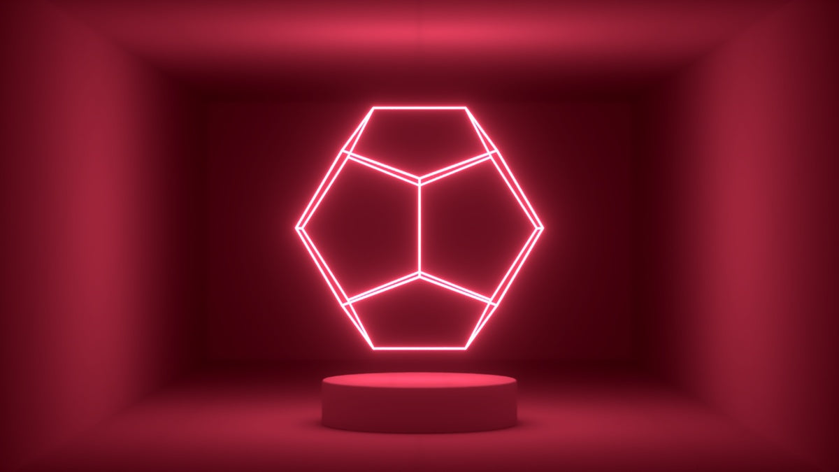 Glow Room - Red Dodecahedron
