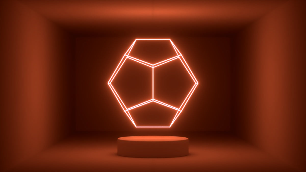 Glow Room - Orange Dodecahedron