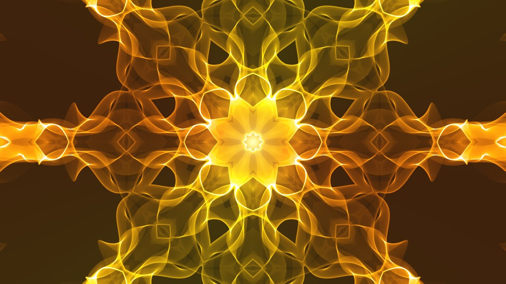 Flow Yellow - meditative and relaxing video, reduce stress, calm the mind