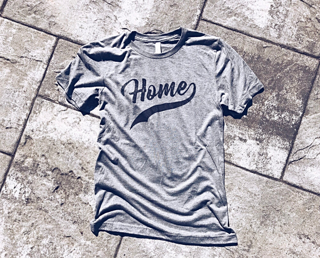 home ~ no place i'd rather be vintage soft tri-blend tee
