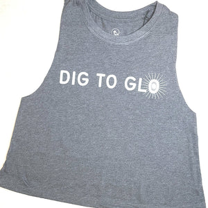 DIG TO GLO ~ cropped sport tank