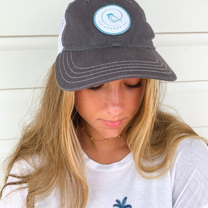 chickadee logo trucker hat