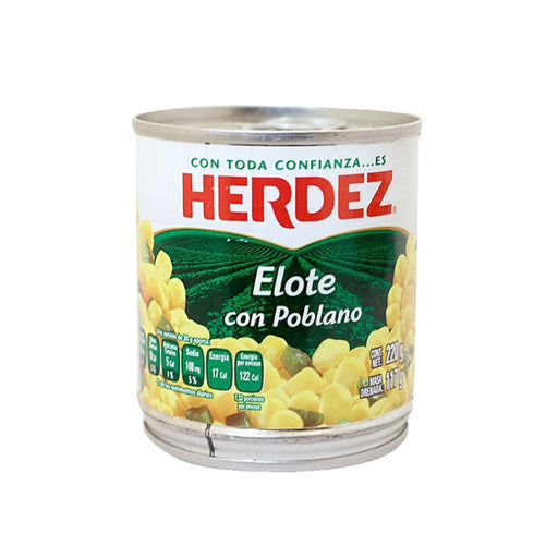 "Elote With Poblano Chile in Rajas ""Herdez"" 220 g"
