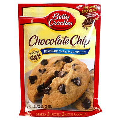 Harina Para Galletas Betty Crocker Con Chispas De Chocolate 496g / 17.5oz