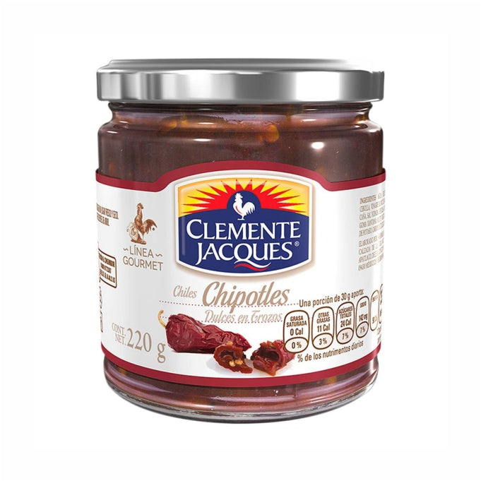 Chiles Chipotles Dulces Gourmet (frasco) Clemente Jacques 220 g