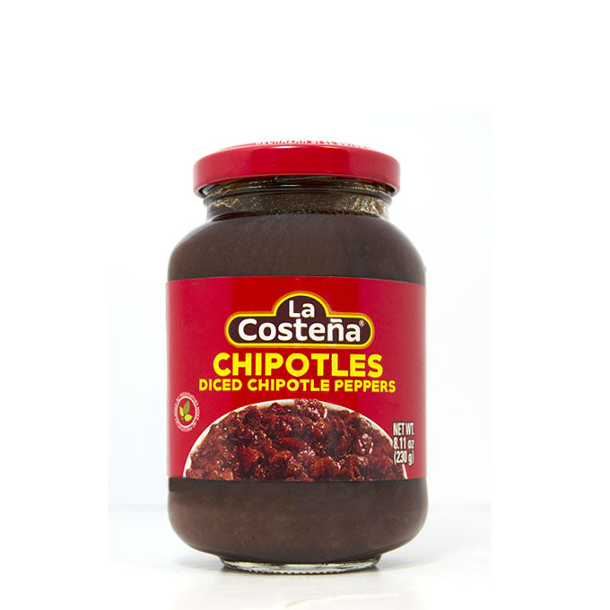"Chiles Chipotles Adobados Troceados Frasco ""La Costeña"" 230 g"