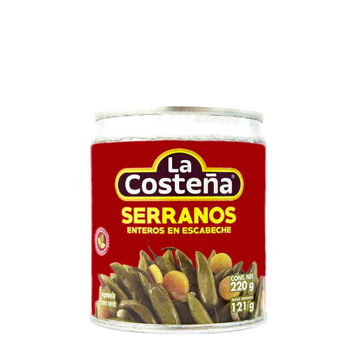 "Chiles Serranos Enteros ""La Costeña"" 220 g"
