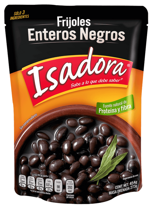 "Whole Black Beans ""Isadora"" 430 g (Pouch)"