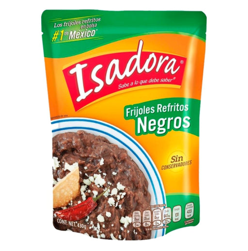 "Refried Black Beans ""Isadora"" 430 g (Pouch)"