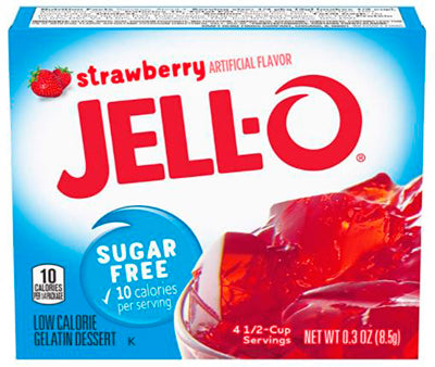 Jell-O Sugar Free Strawberry 8.5g / 0.3oz