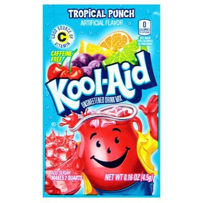 Kool-Aid Tropical Punch Unsweetenend Soft Drink Mix 4.53g / 0.16oz
