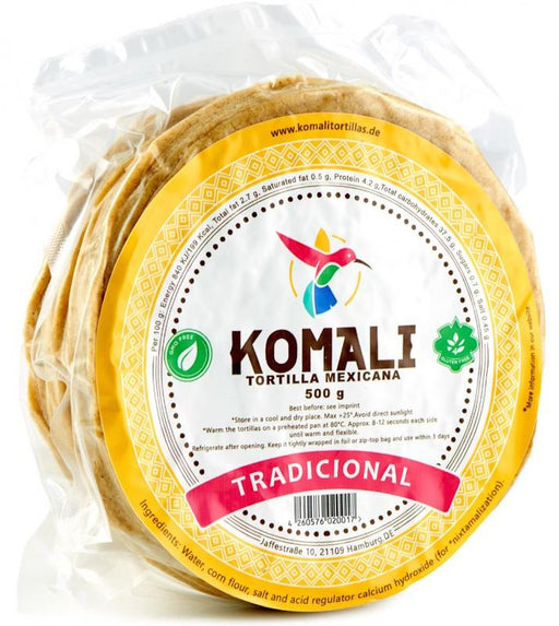 Komali Yellow Corn Tortilla 500g - 15cm