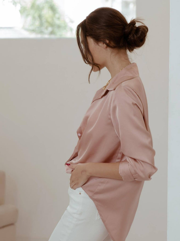 'Blush' Silk Shirt