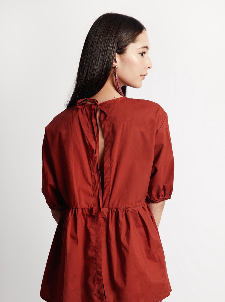'Amber' Open Back Blouse