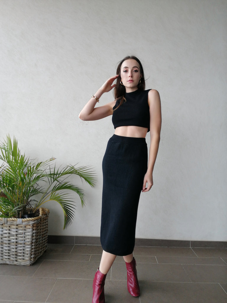 'West' Petite Knit Skirt