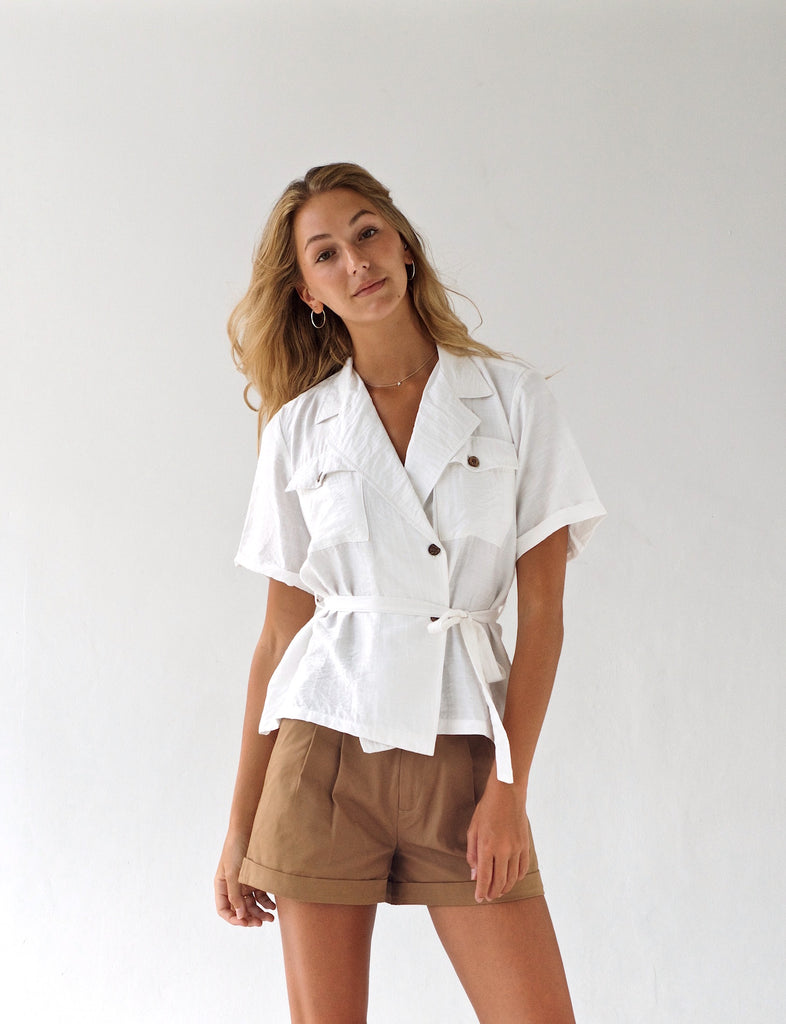 'Ranger' Cotton Wrap Shirt
