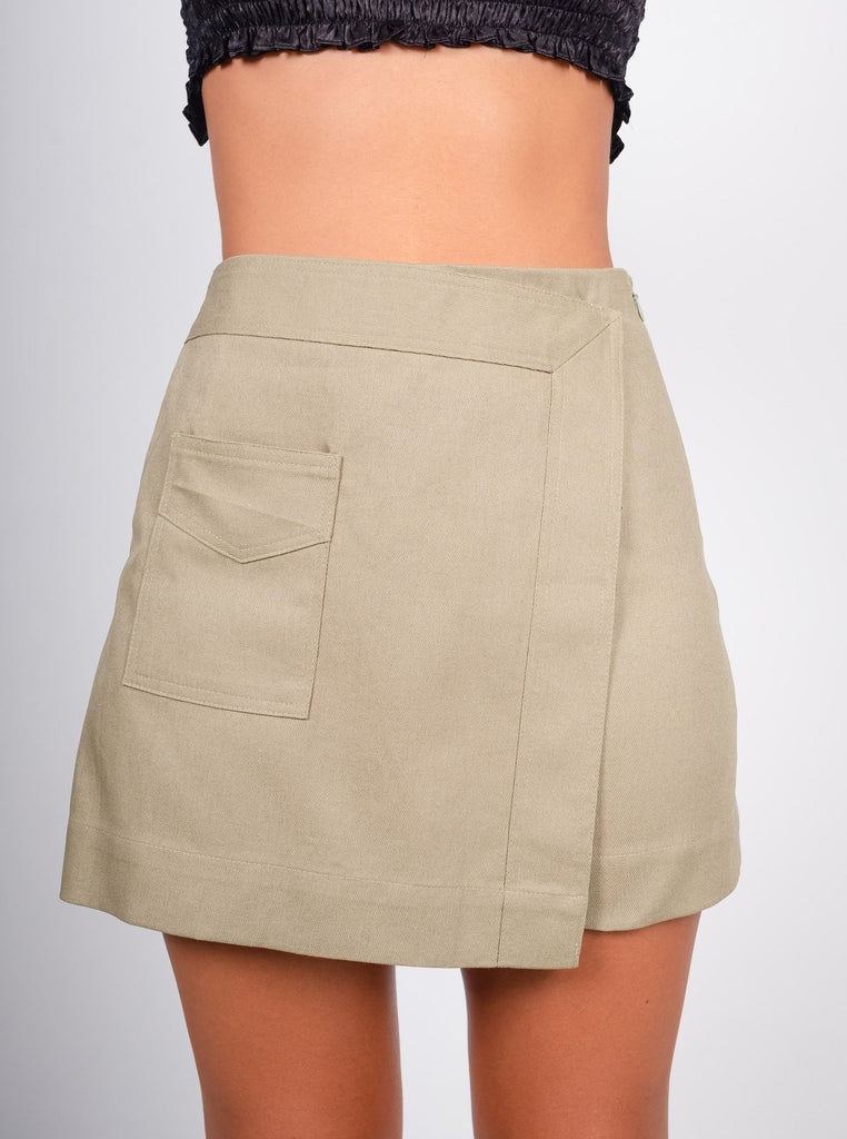 'Minty' Cotton Skort