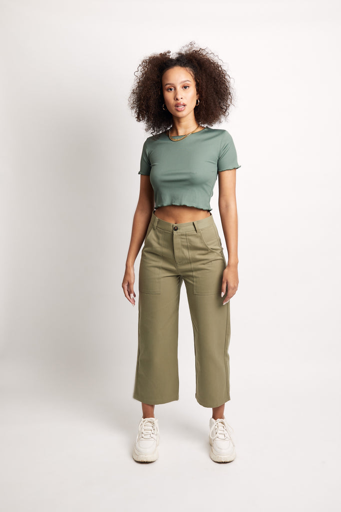 'Miss Moss' Cotton Pants