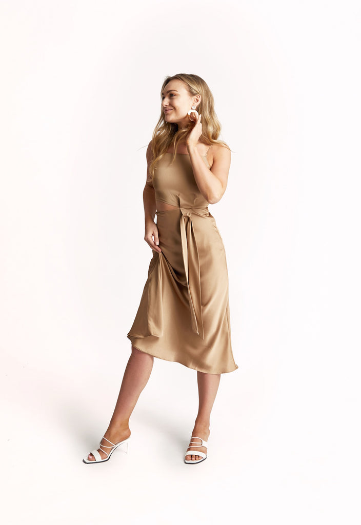 'BUTTERUM' SILK DRESS