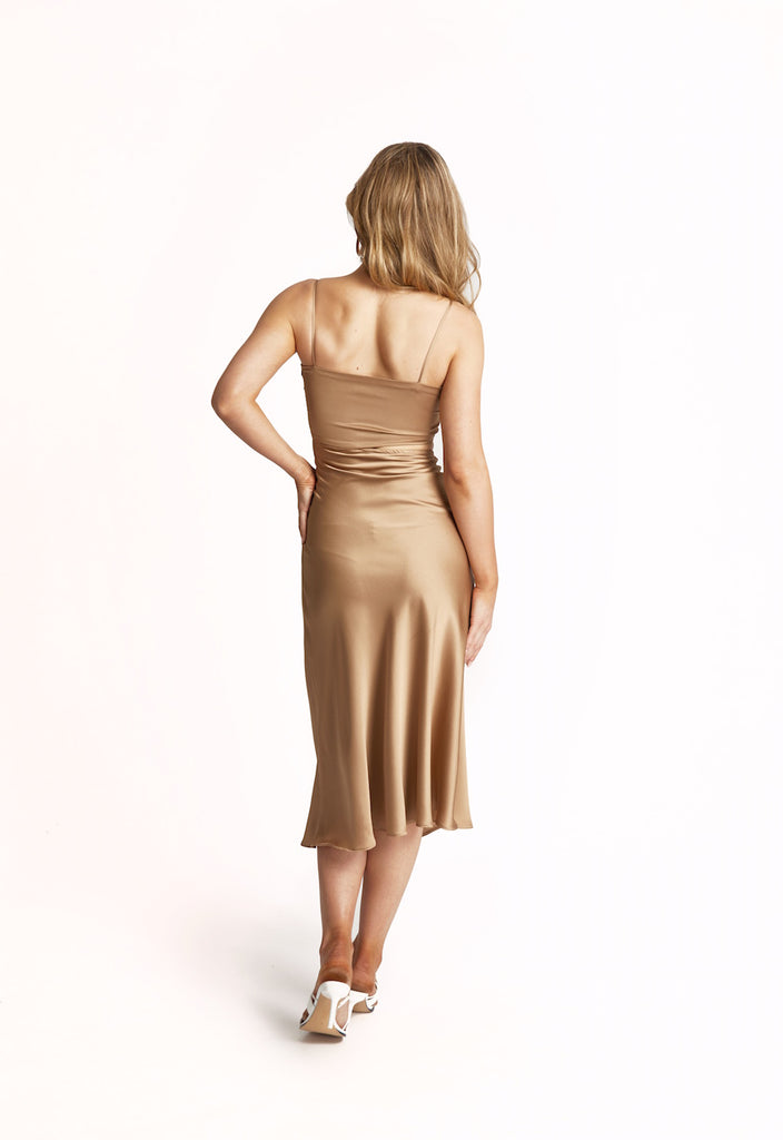 'BUTTERUM' SILK DRESS (ALSO IN BLACK)