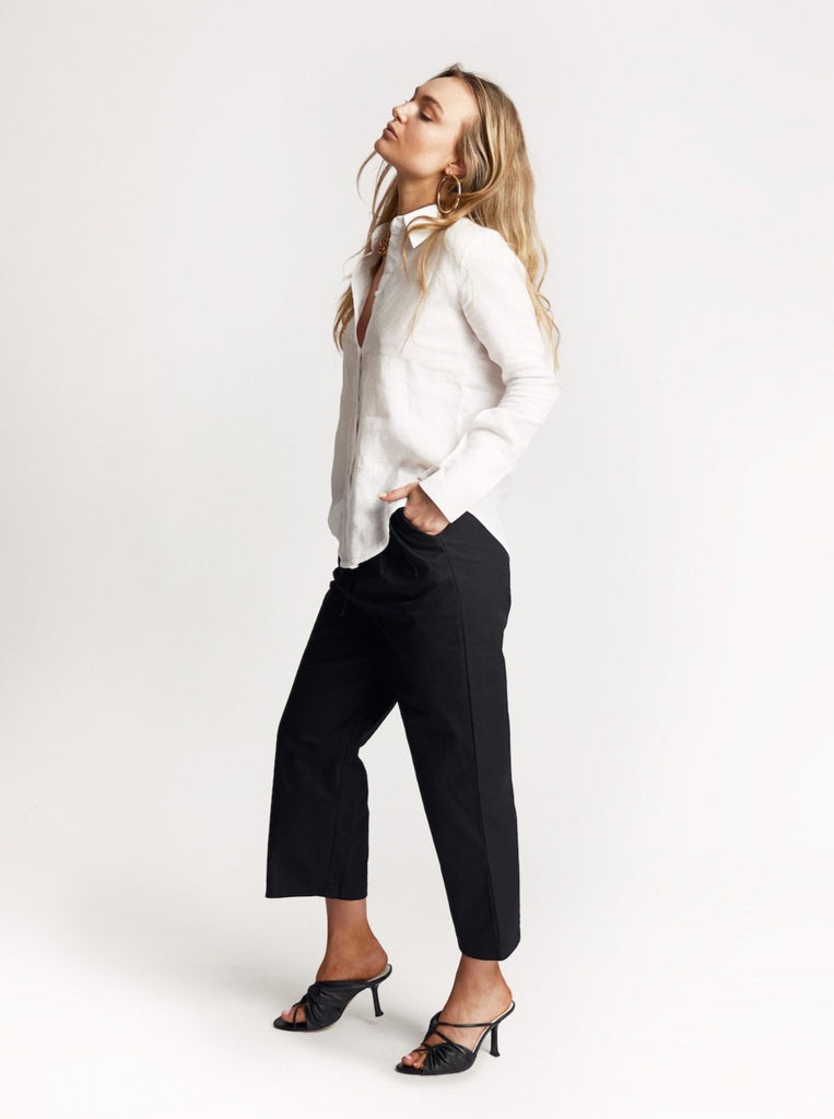 Black 'Bow' Cotton Pants