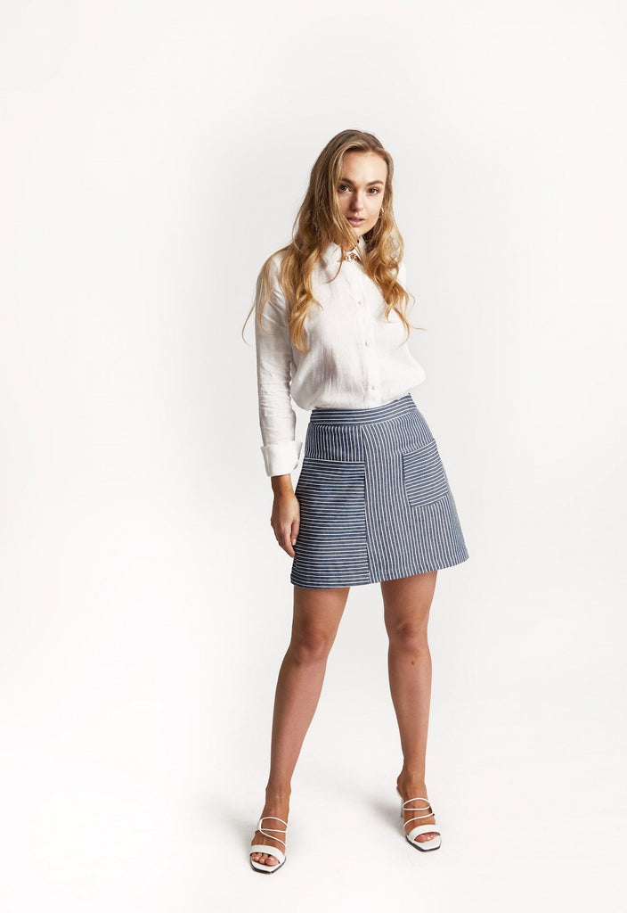 'Atlantic' Cotton Skirt