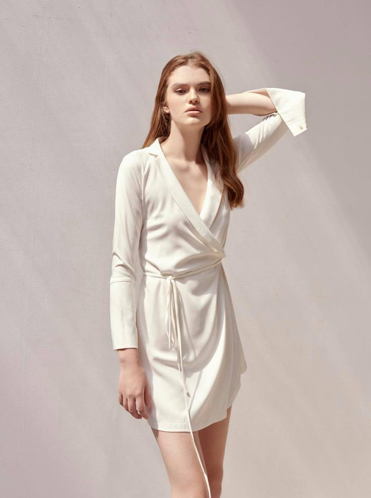 'Pearl' Cotton Wrap Dress