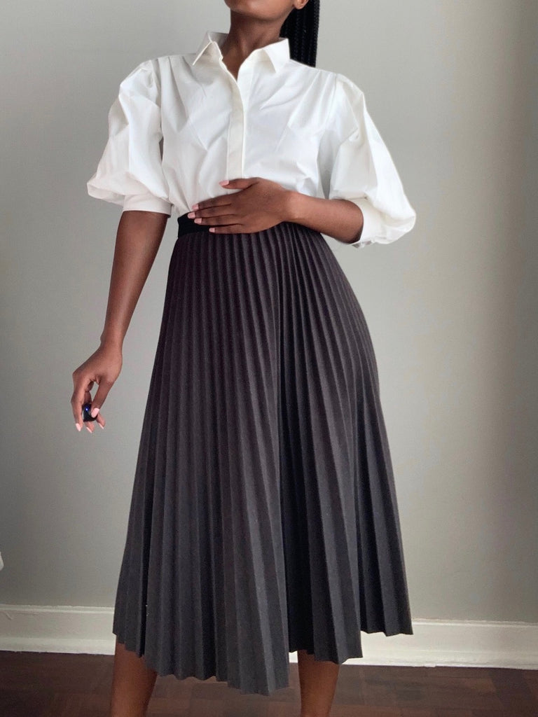 'Plush' Pleated Skirt