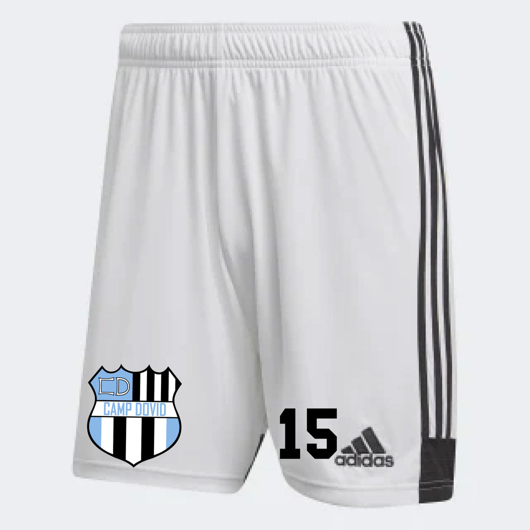 Camp Dovid Adidas Shorts White (Include # with Order)