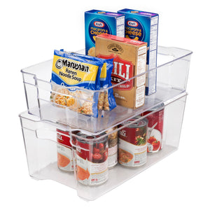 Fridge and Freezer Bin - Deep Large + Fridge and Freezer Bin - Deep Medium - Bundle