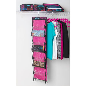 Space-Saving Hangers - Set of 10 - Pink - Hang It Up Special - 60% OFF