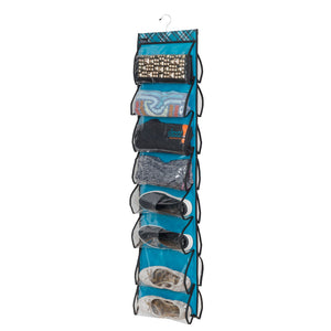 16-Pocket Cubby - Teal Plaid - Vertical Organizer Special - 70% OFF