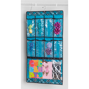 Hanging Pocket Cubby - Teal Plaid - 75% OFF
