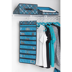 Jewelry Cubby - Teal Plaid