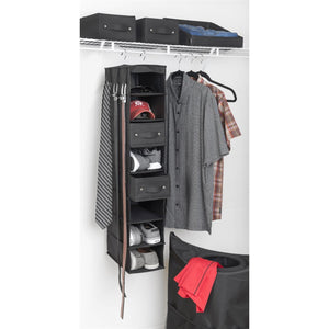 8-Shelf Closet Organizer + 2 Handle-It Bins - Bundle