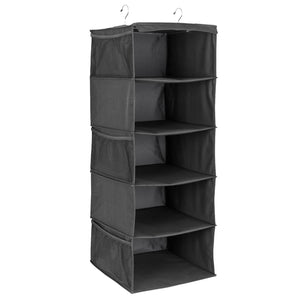 5-Shelf Closet Organizer - Black
