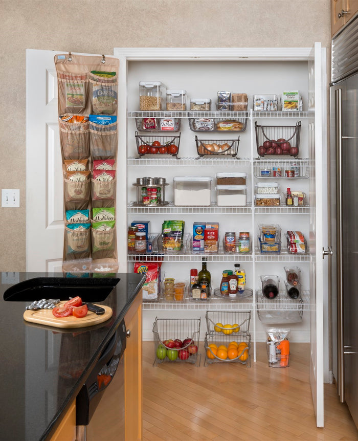 Over the Door Pantry Organizer - Charcoal Gray