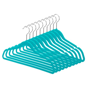 Space-Saving Hangers - Set of 10 - Teal