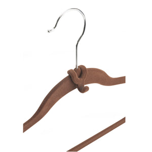 Cascading Hanger Hooks - Set of 10 - Chocolate