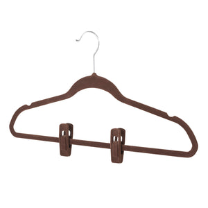 Hanger Clips - Set of 12 - Chocolate - 75% OFF