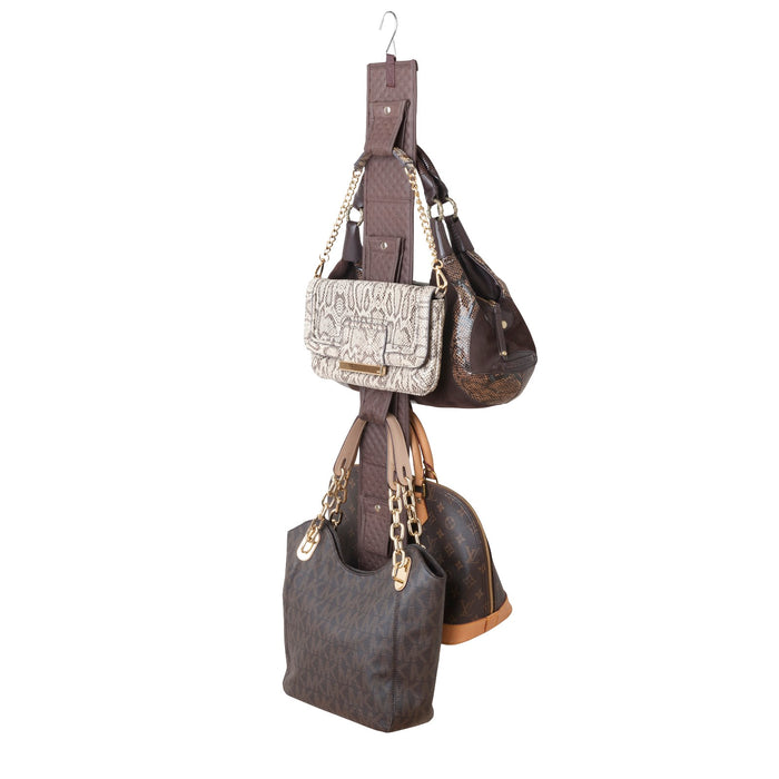Classy Quilted Snap'n Hang - Chocolate - 75% OFF